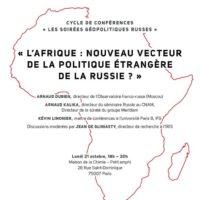 """(Français) Conférence """"Russie-Afrique"""" à la Maison de la Chimie le 21 octobre"""