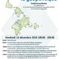 """Conférence/Atelier """"Enseigner la géopolitique"""", le 13 décembre 2019 à la Société de Géographie"""