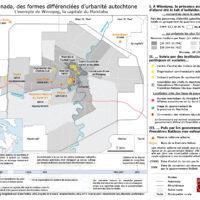 Carte. Au Canada, des formes différenciées d'urbanité autochtone. L'exemple de Winnipeg, la capitale du Manitoba