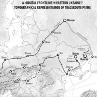 Mapping the routes of the Internet for geopolitics: The case of Eastern Ukraine
