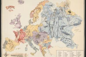 Carte_symbolique_de_l'Europe_Guerre_libératrice_de_1914-1915_-_-_B._Crétée,_1914._LCCN2016647864